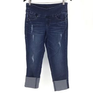 Jag Jeans Lewis Straight Cuff Blue Ankle Jeans, 8